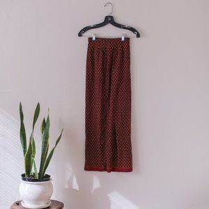 Vintage Red and Orange Skirt Size XS